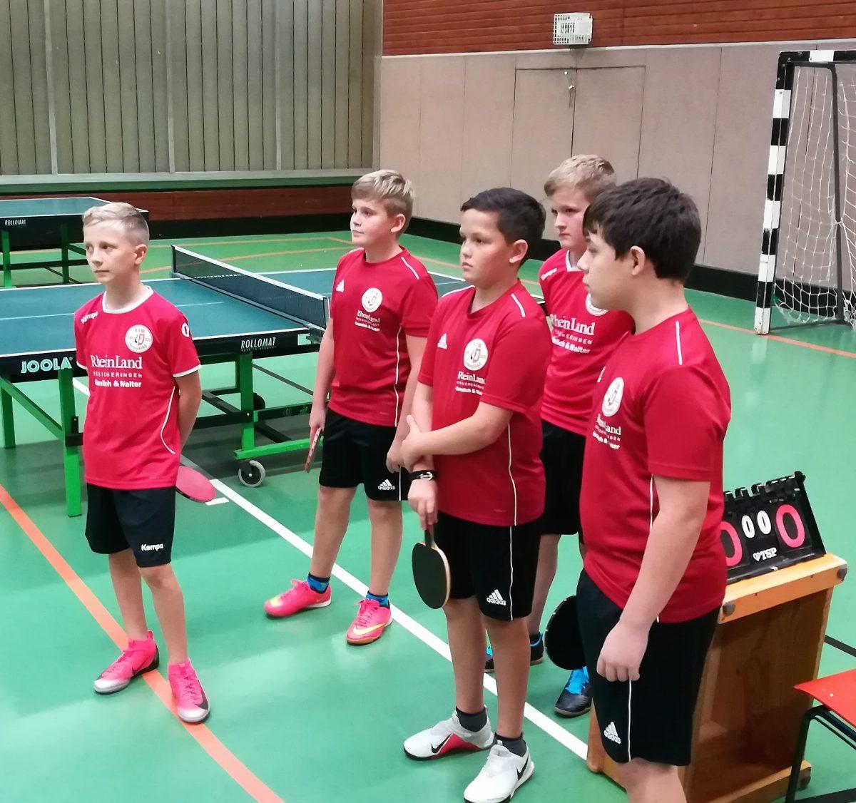 Spiel der TT-Jugend U15 gegen Adelsheim, 1:9