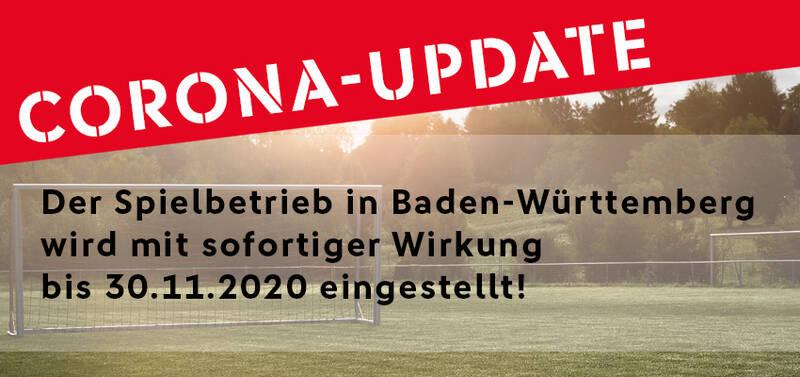 """""""Jeder Tag zählt"""": Spielbetrieb im Amateurfußball BW eingestellt !"""